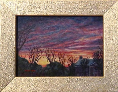 Signed Mimi Dee Original American Landscape Painting Vibrant View