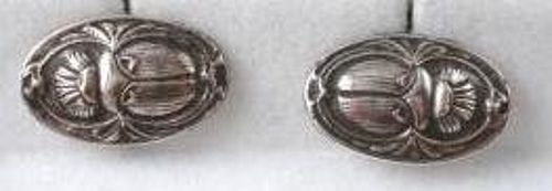 Signed Antique Scarab Cufflinks