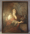 Painting Mary Magdalene Attributed Guido Reni, 17th c