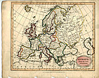 Antique Map of Europe 1815