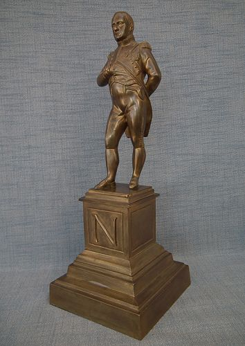 Antique Large Gild Bronze Sculpture of Emperor Napoleon