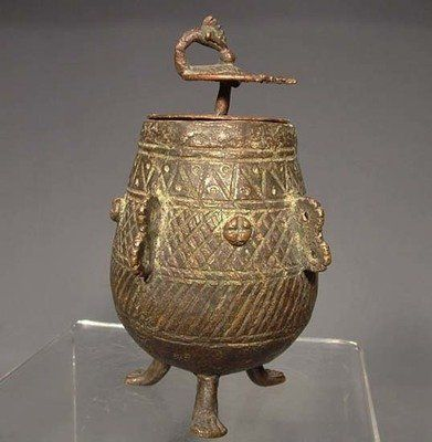 Antique Indian Bronze Jar 19th Century India