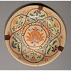 Antique Turkish Ottoman Islamic Kutahya Dish 19th centu