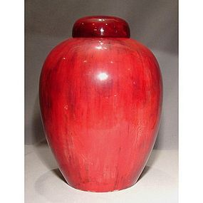 Large Antique William Moorcroft Flamb� Ginger Jar Vase