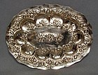 Antique Spanish Colonial Silver Oval Platter 18th C