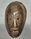 Authentic antique early 19th – early 20th c Africa Bronze Mask
