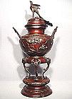 Antique Japanese Bronze Censer, Meiji Period (1868-1912