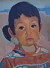 Portrait Navajo Girl Drake Seaman Western Art
