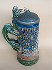 Antique Mettlach Beer stein St Florian #1786