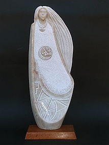 Cliff Fragua spirt woman modernist sculpture Indian art