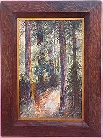 California Redwoods Susan S. Loosley arts crafts c.1900