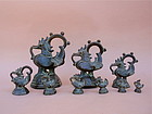 Antique Bronze Set Opium Weights South east Asia
