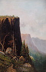 Yosemite Valley El Capitan American painting c.1890