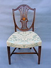 American Federal carved shield back chair c.1830