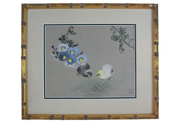 Chinese Plum Blossoms by Zhāng Shūqí