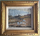 Landscape with Creek Impressionist Fred Wagner
