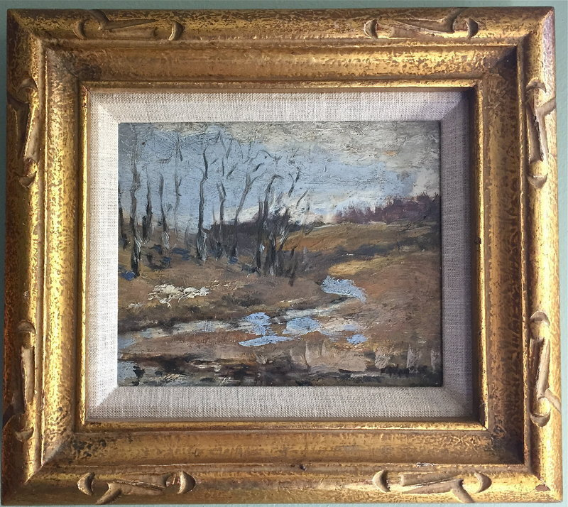 Landscape with Creek Impressionist Fred Wagner