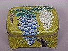 Japanese Cloisonne Ginbari box blossoms gold foil