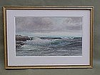 George Howell Gay Maritime seascape ships off coast w/c