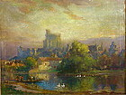 Colin Campbell Cooper Oil Windsor Castle Exhibited N.Y.