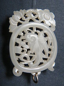 18th Century White Jade Pendant - probably Qianlong