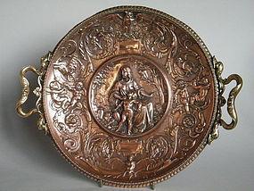 Renaissance Style Copper Plaque, Gustav Grohe 1829-1906