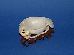 Rare 16th/17th Century Ming Dynasty Jade Brush Washer