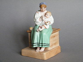 Fine 19C Russian Porcelain Figure Group Gardner Moscow