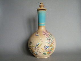 Victorian Watcombe Pottery Terracotta Bottle Vase c1878