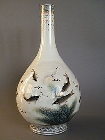 40cm Bottle Vase signed Deng Bishan  Republic 1912-1949