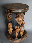 Rare 19th/early 20th Century Carved Stool from Cameroon