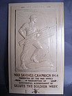 "1944 ""Salute the Soldier"" Bakelite Commemorative Plaque"