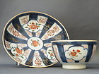 Chinese Verte Imari Tea Bowl and Saucer, circa 1723-173