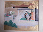 Japanese Painting  Scene from The Tale of Genji, Meij