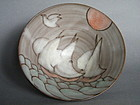 Rare Sailing Ships' Studio Pottery Bowl by Tessa Fuchs