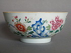 "18th Century Chinese Porcelain ""Famille Rose"" Bowl, circa 1730 -1750"