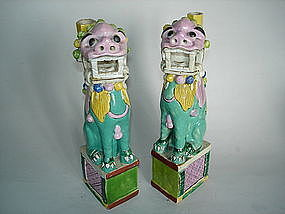 18/19th C Chinese Export Joss Stick Holders - Jiaqing
