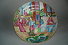 Famille Rose Chinese Export Saucer Dish c1820 - 1850