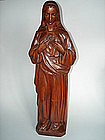 Important Carved  Wood Madonna by Cabrini Orphan -1911