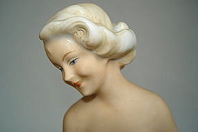 "1930s Art Deco ""Bisque"" Porcelain Dresden Figure"