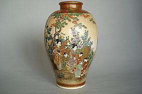 Fine Japanese Satsuma Earthenware Vase - Meiji - 15.5cm