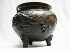 Large Japanese Bronze Dragon Censer Meiji (1868-1911)