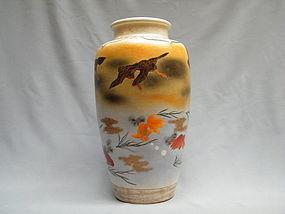 Large Japanese Satsuma Vase - Kozan seal - Meiji period