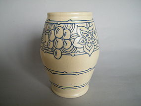 1920s - 1930s Art Deco Rhead Pottery Tube-lined Vase