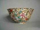 Famille Rose Millefleur Chinese Export Bowl c1875-1908