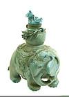 Early 19C Chinese Turquoise Elephant Snuff Bottle