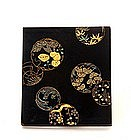 Old Japanese Makie Lacquer Box Pearl Inlaid