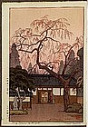 Old Japanese Woodblock Print Yoshida Cheing Blossoms