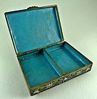 Antique Chinese Cloisonné Scholar Box - 19th Century