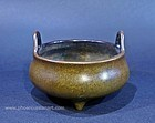 Antique Chinese Bronze Censer w Xuande Mark, 18th Century